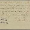 Letter to Mr. Claypole [David C. Claypoole, Philadelphia]
