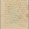 Letter to [William?] Cranch
