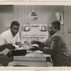 Jackie Robinson and Louise Beavers in a scene from the motion picture The Jackie Robinson Story