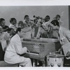 Duke Ellington and orchestra in a scene from the motion picture Cabin in the Sky