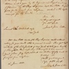 Letter to Samuel L[atham] Mitchell [Mitchill], New York