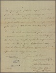 Letter to [Samuel Bryan, Register Gen.]
