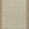 Letter to Gunning Bedford [jr., New Castle, Del.]
