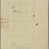 Letter to William Peters