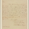 Letter to Col. [Jeremiah] Wadsworth or Royal Flint, Murderer's Creek [N. Y.]