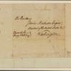 Letter to James Madison, Washington