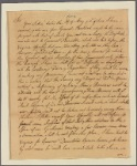 Letter to [Gov. Robert Hunter Morris, Philadelphia.]