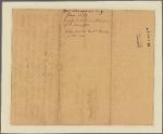 Letter to [Gov. Robert Hunter Morris, Philadelphia.]
