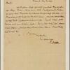 Letter to Samuel Tredwell, Edenton