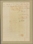 Letter to [William Smallwood,] Governor. Capt. [Thomas Andrew?]