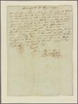 Letter to Thomas Sim Lee. M. Gerrard [Gérard]