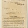 Letter to [John Andrew Schulze,] Governor of Pennsylvania