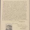 Letter to John Hancock, Boston