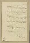 Letter to the Duke [de Choiseul]