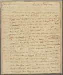 Letter to Thomas Burke, Philadelphia