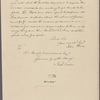 Letter to Gov. Richard Caswell, N. C.