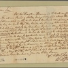Letter to [William Hasell] Gibbes