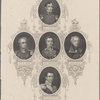 [Center and then clockwise from top:] Lord Hardinge. Sir J. Littler. Lord Gough. Sir H. Smith. Sir R. Sale.