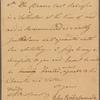 Letter to Capt. [Elijah?] Lewis