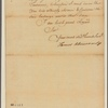 Letter to Gov. [William] Denny, Philadelphia