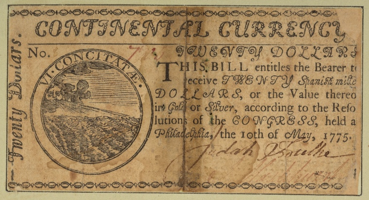 This is What United States and Paper Money Looked Like  on 5/10/1775