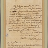 Letter to Gen. [Philip] Schuyler, Lake George