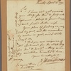 Letter to William Young, Philadelphia