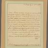 Letter to M. Boulaing, Paris