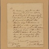 Letter to Col. [Charles] Pettit