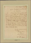 Letter to [George Washington,] President of the United States