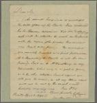 Letter to [Edward Hand, Lancaster.]