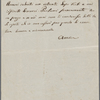 Autograph letter signed to Lord Byron, ?Summer 1817-April 1819