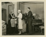 Dame May Whitty, Edna Best, and Herbert Marshall in a scene from the stage production There's Always Juliet.