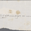 Autograph letter unsigned to Lord Byron, ?January-?March 1818