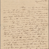 Autograph letter signed to Augusta White, 30 August 1817