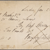 Autograph check signed to Brooks, Son and Dixon, 22 January 1818