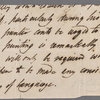 Autograph letter (fragment), third person unsigned to Lackington, Hughes and Co., 24 or 25 September 1817