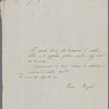 Autograph letter signed to Lord Byron, 10 April 1818