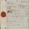 Autograph letter signed to Douglas Kinnaird, 3 May 1818