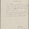 Autograph letter signed to Lord Byron, 25 October 1818