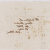 Autograph letter signed (sponge paper copy) to Fanny Silvestrini, 3 May 1819