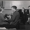 Barbara Bel Geddes, Barry Nelson, Joseph Anthony and Jean Kerr in rehearsal for the stage production Mary, Mary