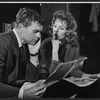 Barry Nelson and Betsy von Furstenberg in rehearsal for the stage production Mary, Mary
