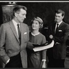 Michael Rennie, Barbara Bel Geddes and Barry Nelson in the stage production Mary, Mary