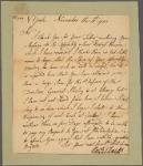 Letter to [Robert Hunter Morris, Governor of Pennsylvania.]