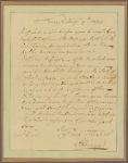 Letter to Gen. [Edward] Hand, Pittsburg