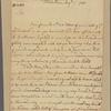 Letter to Gov. [Robert Hunter] Morris