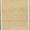 Letter to Gov. [Robert Hunter] Morris