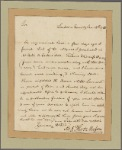 Letter to Robert Carter of Nominy Hall, Westmorland