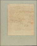 Letter to Robert Carter, Williamsburg